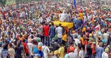 चौथे दिन भी दिल्ली सीमा पर डटे किसानों का प्रदर्शन
